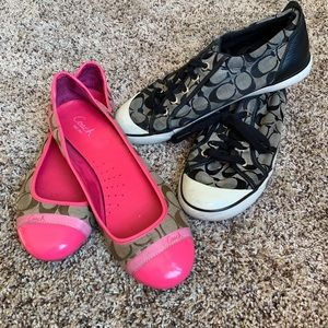 Bundle of 2 Coach shoes sneaker and flats classic